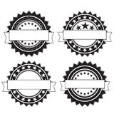 Emblemas retros redondos Foto de Stock Royalty Free