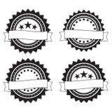 Emblemas retros redondos Fotografia de Stock