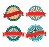Emblemas retros vazios do vintage Fotografia de Stock