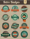Emblemas retros vol 1-1 Fotografia de Stock
