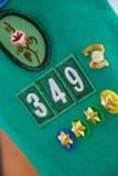 Emblemas Scouting Foto de Stock Royalty Free
