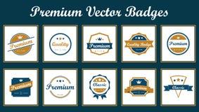 Emblemas superiores do vetor Fotografia de Stock