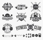 Emblemas tipográficos da aptidão Imagem de Stock Royalty Free