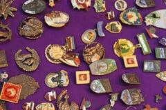 Emblemas velhos Fotografia de Stock Royalty Free