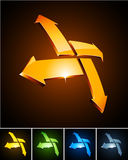 Emblemas vibrantes del color. Fotografía de archivo