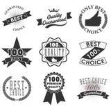 Emblemas y etiquetas de la calidad Foto de archivo
