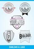 Emblemas y insignias Fotos de archivo