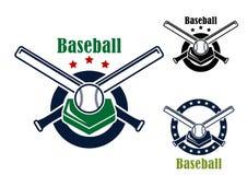 Emblemas y símbolos del béisbol Imagen de archivo libre de regalías