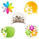 emblematów kwiatu etykietki Obrazy Stock