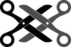 emblematów nożyce Obrazy Royalty Free