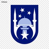 Emblemat Ankara ilustracja wektor
