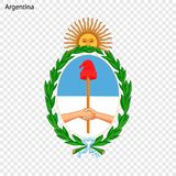 Emblemat Argentyna royalty ilustracja