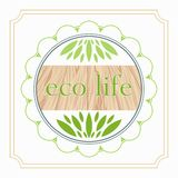 Emblemat eco życia organicznie foods i produktu projekt Obrazy Royalty Free