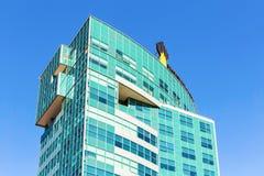 Emblemat kompania paliwowa Rosneft na budynku biurowym Obraz Royalty Free