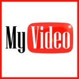 Emblemat mój wideo Obraz Stock