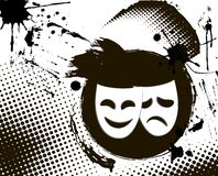 emblemat maskuje teatru rocznika Obraz Royalty Free