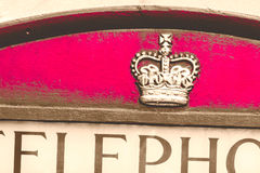Emblemat na Angielski telefonu budka Zdjęcie Stock