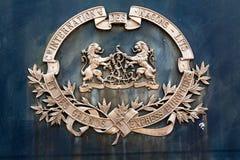 Emblemat na stronie sztachetowego furgonu gatunku wagon sypialny fotografia royalty free