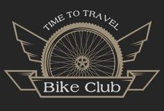 Emblemat na temacie bicykle Fotografia Royalty Free