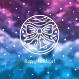 Emblemat nowy rok wakacje Zdjęcia Stock