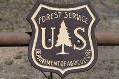 Emblemat odznaki logo dla USA służby leśne, agencja rządowa obraz royalty free