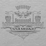 Emblemat, średniowieczny styl Fotografia Royalty Free