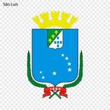 Emblemat Sao Luis royalty ilustracja