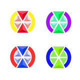 Emblemat tomowi trójboki Obrazy Stock