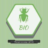 Emblemat z pszczołą ilustracja wektor