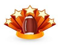emblemata amerykański futbol ilustracja wektor