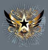 emblemata faborków rocznika whit Zdjęcie Royalty Free