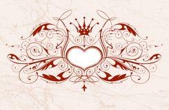 emblemata rocznik serca Fotografia Stock