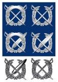 emblemata srebro royalty ilustracja