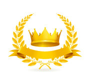 emblemata złota rocznik ilustracja wektor