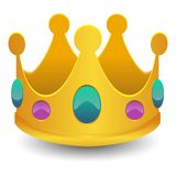 King Crown Emoji Vector Art 3D Effect Chat Icon Symbol. A emblematic elements of Chat Crown King Communication Icon Vector Style Stock Images