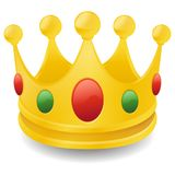King Crown Emoji Vector Art 3D Effect Chat Icon Symbol. A emblematic elements of Chat Crown King Communication Icon Vector Style Stock Image