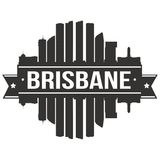 Brisbane Australia Australasian Icon Vector Art Design Skyline Flat City Silhouette Editable Template. A emblematic elements of this city, template vector icon Stock Images