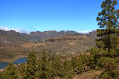 Emblematic Roque Nublo, symbolic natural monument of Gran canaria, Canary islands. In Spain royalty free stock image