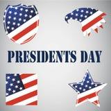 Emblematy dla prezydentów dni w usa Zdjęcie Stock
