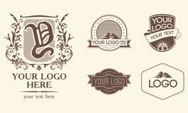Emblematy & logowie Fotografia Stock