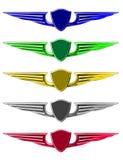 emblematy ustawiający Zdjęcia Stock