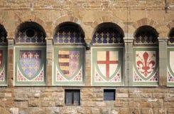 Emblematy w Palazzo Vecchio Florencja Obraz Royalty Free