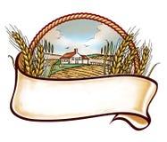 Embleme da exploração agrícola Foto de Stock Royalty Free