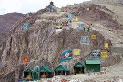 Embleme der indischen Armee in Ladakh, Indien Stockfotografie