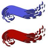 Emblemen 2 van de Web-pagina Van de Werveling van de verf vector illustratie