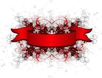 emblemen blommar grungetappning Arkivbild