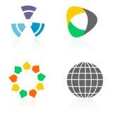 Emblemen/de elementen van het Embleem Stock Fotografie