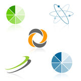 Emblemen/de elementen van het Embleem stock illustratie