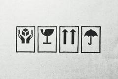 Emblemen op een lege raad stock foto