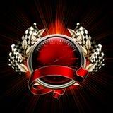 emblemen races red Royaltyfri Fotografi